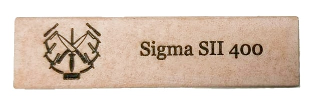 1x4 Sigma 400 Select II -- Premium level coarse grit sharpening stone